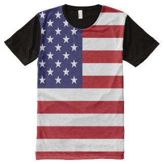 米国の旗 オールオーバープリントT シャツ