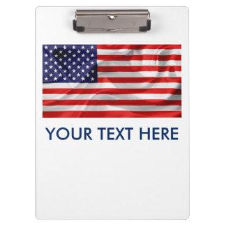 米国の旗 クリップボード