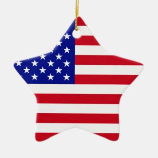米国の旗 セラミックオーナメント