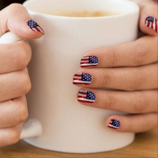 米国の旗 ネイルアート