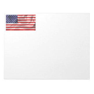 米国の旗 ノートパッド