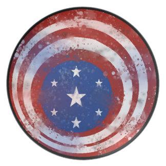 米国の旗 プレート