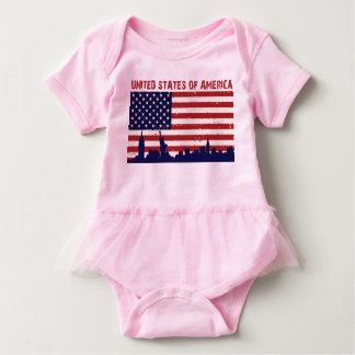 米国の旗 ベビーボディスーツ