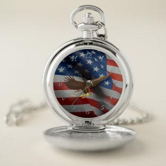 米国の旗 ポケットウォッチ