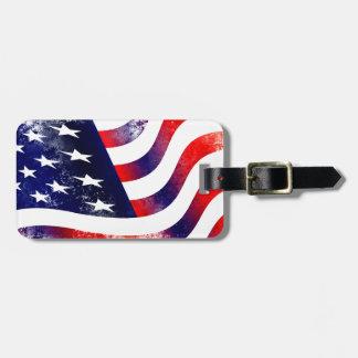 米国の旗 ラゲッジタグ