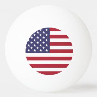 米国の旗 卓球ボール