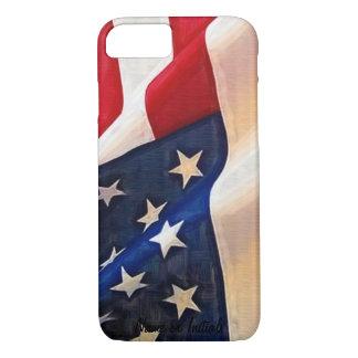 米国の旗-古い栄光のアメリカのプライド iPhone 8/7ケース