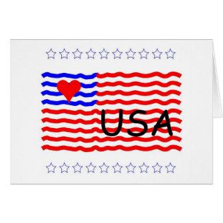 米国の旗-愛 カード