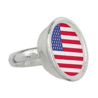 米国の旗 指輪