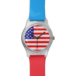 米国の旗 腕時計