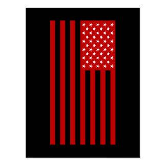 米国の旗-赤いステンシル ポストカード