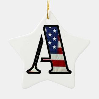 """米国の旗""""A """" セラミックオーナメント"""