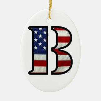 """米国の旗""""B """" セラミックオーナメント"""