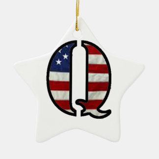 """米国の旗""""Q """" セラミックオーナメント"""