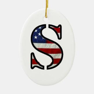 """米国の旗""""S """" セラミックオーナメント"""