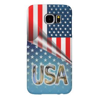 米国の旗 SAMSUNG GALAXY S6 ケース
