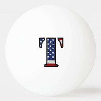 """米国の旗""""T """" 卓球ボール"""