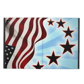 米国の星の波の旗 iPad AIRケース
