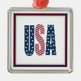 米国の星条旗のオーナメント メタルオーナメント