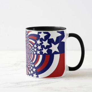 米国の星条旗の愛国心が強いデザイン マグカップ