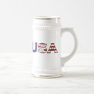 米国の星条旗ビールステイン ビールジョッキ