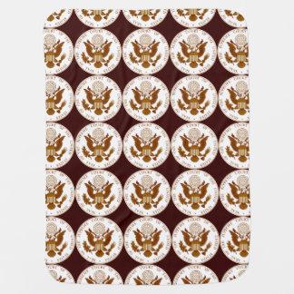 米国の最高裁判所のシール ベビー ブランケット