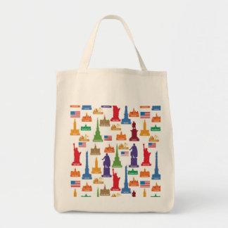 米国の有名な都市 トートバッグ