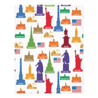 米国の有名な都市 レターヘッド