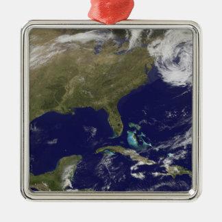 米国の東海岸の衛星眺め メタルオーナメント