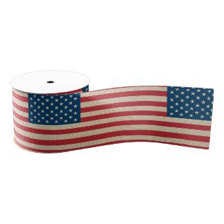 米国の模造のなバーラップの旗 グログランリボン