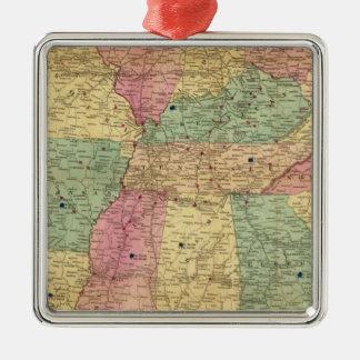 米国の歴史的および軍の地図 メタルオーナメント