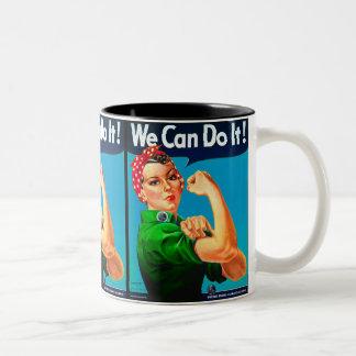 米国の気候の同盟-私達はそれをしてもいいです! ツートーンマグカップ