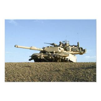 米国の海兵隊員はM1A1 Abrams tの保証を提供します フォトプリント