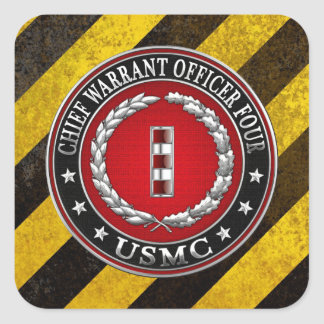 米国の海兵隊員: 主な令状4 (USMC CWO-4) [3D] スクエアシール