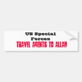 米国の特殊部隊: アラーへの旅行代理店 バンパーステッカー