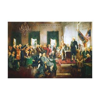 米国の独立宣言の署名 キャンバスプリント
