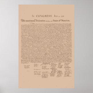 米国の独立宣言 ポスター
