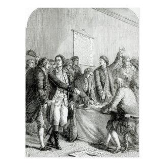 米国の独立宣言 葉書き