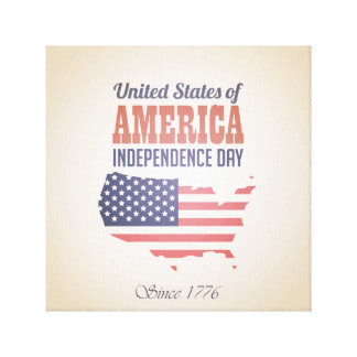 米国の独立記念日 キャンバスプリント