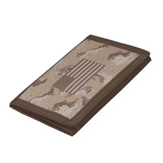 米国の砂漠の迷彩柄の財布