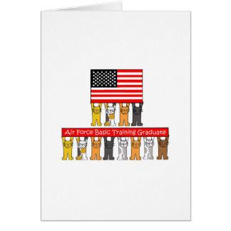 米国の空軍基本訓練の卒業生 カード