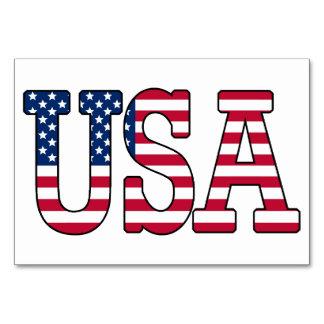 米国の米国旗のテーブルカード カード