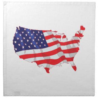 米国の米国旗の地図 ナプキンクロス