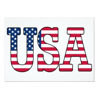 米国の米国旗の招待状 カード