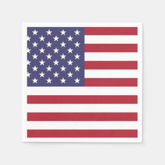 米国の米国旗%PIPE%の紙ナプキン スタンダードカクテルナプキン