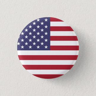 米国の米国旗%PIPE%ボタン 3.2CM 丸型バッジ