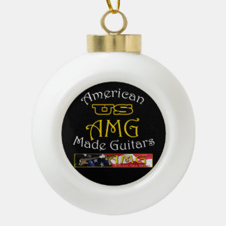 米国の米国製のギターのクリスマスツリーのオーナメント セラミックボールオーナメント