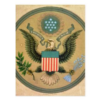 米国の素晴らしいシール、c.1850 ポストカード