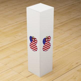 米国の素晴らしい髪の天使の旗 ワインギフトボックス