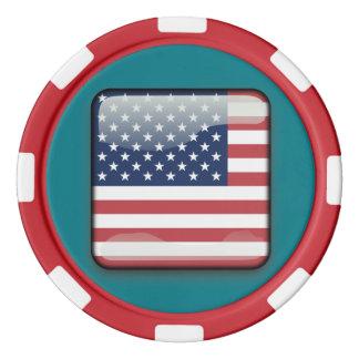 米国の統一されたな州のポーカー用のチップ カジノチップ